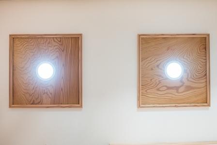 32.木枠のダウンライト